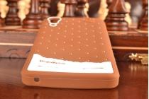 """Необычная уникальная полимерная мягкая задняя панель-чехол-накладка для lenovo a6000/ a6010 plus """"тематика андроид в тёмном шоколаде"""""""