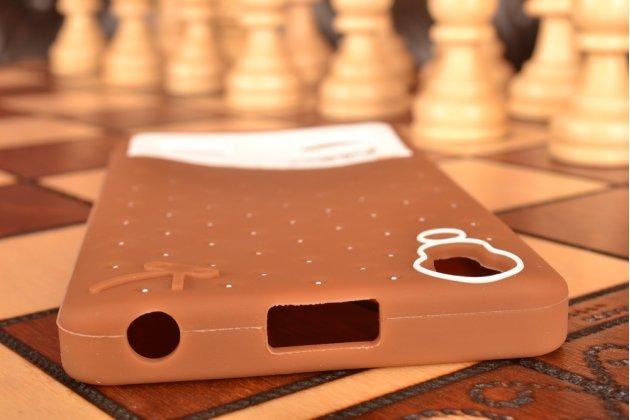 """Необычная уникальная полимерная мягкая задняя панель-чехол-накладка для lenovo k3 music lemon """"тематика андроид в тёмном шоколаде"""""""