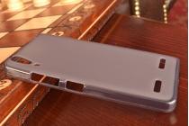 Ультра-тонкая полимерная из мягкого качественного силикона задняя панель-чехол-накладка для lenovo a6000/ a6010 plus черная