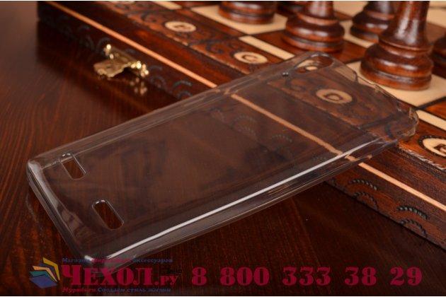 Ультра-тонкая полимерная из мягкого качественного силикона задняя панель-чехол-накладка для lenovo k3 music lemon черная