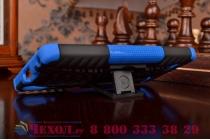 """Противоударный усиленный ударопрочный чехол-бампер-пенал для lenovo a6000/ a6010 plus 5.0"""" синий"""