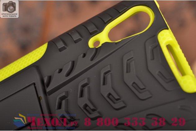 """Противоударный усиленный ударопрочный чехол-бампер-пенал для lenovo a6000/ a6010 plus 5.0"""" зеленый"""