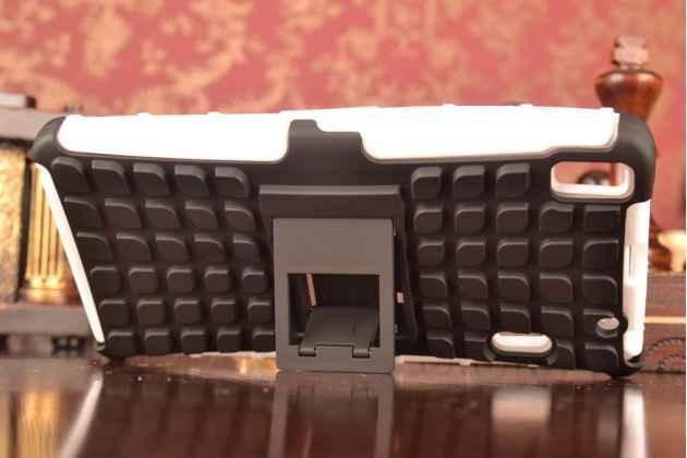 Противоударный усиленный ударопрочный чехол-бампер-пенал для lenovo a7000 белый
