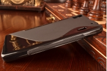 Ультра-тонкая полимерная из мягкого качественного силикона задняя панель-чехол-накладка для lenovo k3 note/a7000 черная