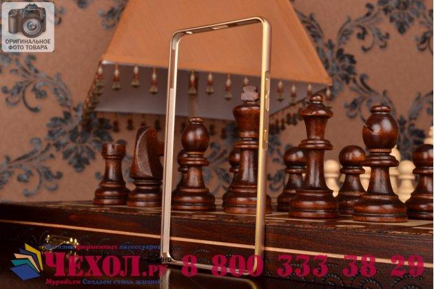 Ультра-тонкий чехол-бампер для lenovo k3 note/a7000  золотой  металлический