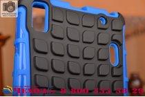 Противоударный усиленный ударопрочный чехол-бампер-пенал для lenovo a7000 синий
