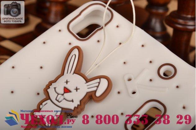 """Необычная уникальная полимерная мягкая задняя панель-чехол-накладка для lenovo k3 note/a7000 """"тематика андроид в белом шоколаде"""""""