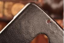"""Роскошная элитная премиальная задняя панель-крышка для lenovo a7010 / vibe x3 lite/ k4 note 5.5"""" из качественной кожи буйвола с визитницей черная"""