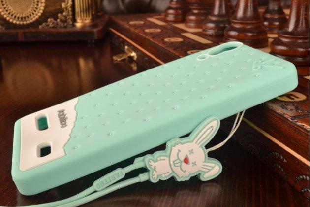 """Необычная уникальная полимерная мягкая задняя панель-чехол-накладка для lenovo k3 music lemon """"тематика андроид в мятном шоколаде"""""""