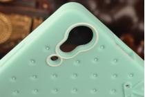 """Необычная уникальная полимерная мягкая задняя панель-чехол-накладка для lenovo a6000/ a6010 plus """"тематика андроид в мятном шоколаде"""""""