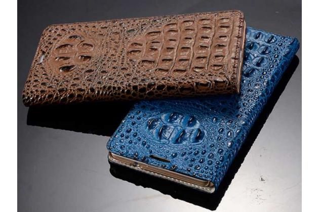 """Роскошный эксклюзивный чехол с объёмным 3d изображением рельефа кожи крокодила синий для lenovo k5 note (k52t38 / k52e78) 5.5"""" . только в нашем магазине. количество ограничено"""