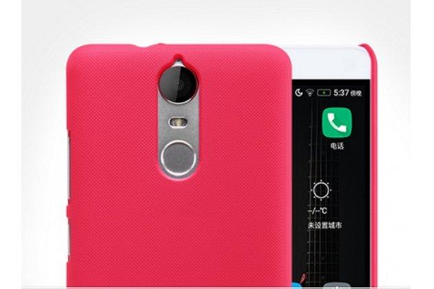 """Задняя панель-крышка-накладка из тончайшего и прочного пластика для lenovo k5 note  (k52t38 / k52e78) 5.5"""" красная"""