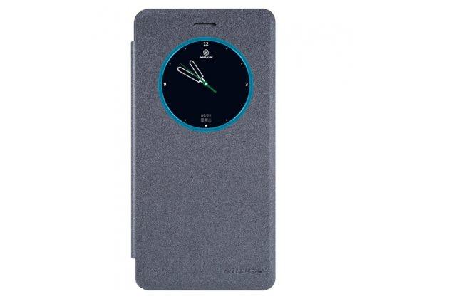"""Чехол-книжка для lenovo k5 note  (k52t38 / k52e78) 5.5"""" с функцией умного окна (фонарик, плеер, аналоговые часы) черный"""