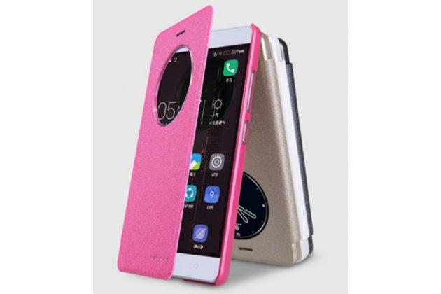 """Чехол-книжка для lenovo k5 note  (k52t38 / k52e78) 5.5"""" с функцией умного окна (фонарик, плеер, аналоговые часы) розовый"""