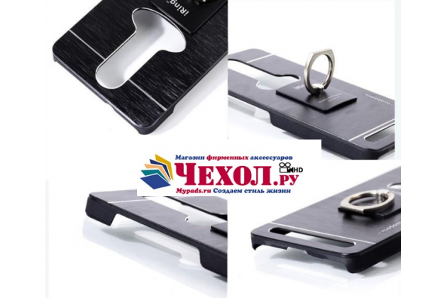 """Металлическая задняя панель-крышка-накладка из тончайшего облегченного авиационного алюминия для lenovo k5 note (k52t38 / k52e78) 5.5"""" черная"""