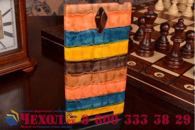 """Неповторимая экзотическая панель-крышка обтянутая кожей крокодила с фактурным тиснением для lenovo k80/p90/p90 pro тематика """"африканский коктейль"""". только в нашем магазине. количество ограничено."""