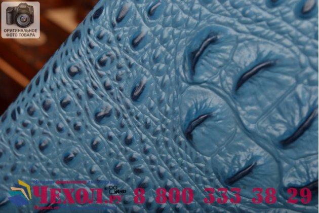 Роскошный эксклюзивный чехол с объёмным 3d изображением рельефа кожи крокодила синий для lenovo k80/p90/p90 pro . только в нашем магазине. количество ограничено