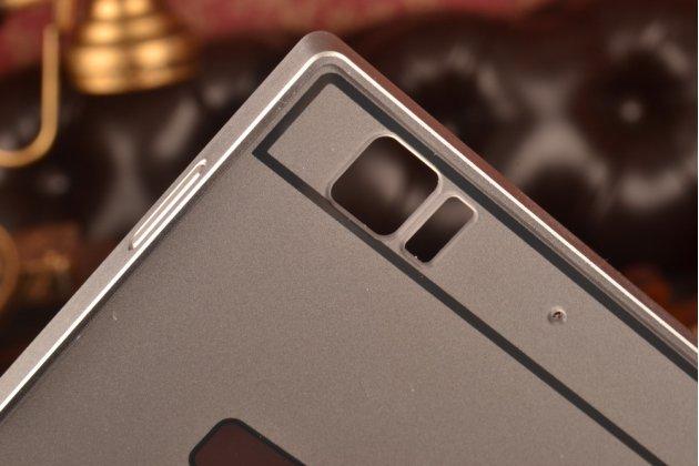 Металлическая задняя панель-крышка-накладка из тончайшего облегченного авиационного алюминия для lenovo k900 серебристая