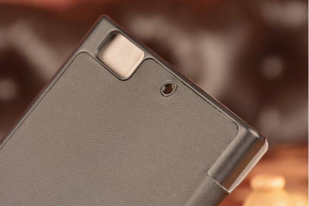Умный тонкий чехол smart-case/smart-cover c функцией засыпания для lenovo k900 черный пластиковый