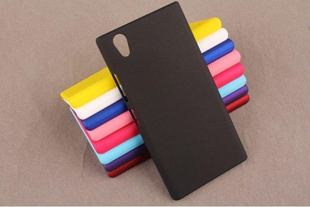 Задняя панель-крышка-накладка из тончайшего и прочного пластика для lenovo p70 черная