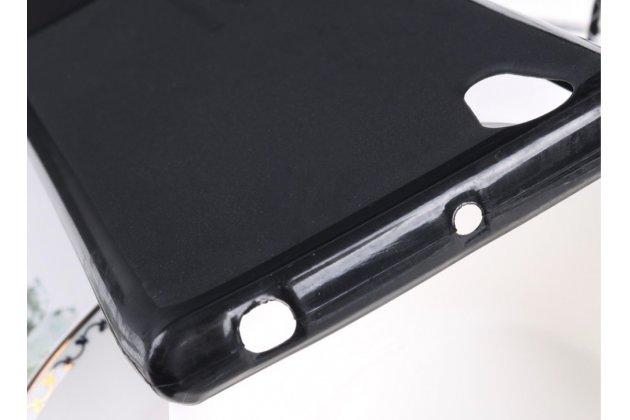 Ультра-тонкая полимерная из мягкого качественного силикона задняя панель-чехол-накладка для lenovo p70 черная