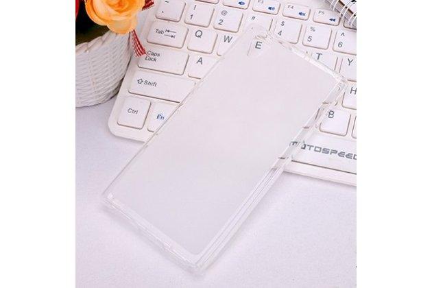Ультра-тонкая полимерная из мягкого качественного силикона задняя панель-чехол-накладка для lenovo p70 белая