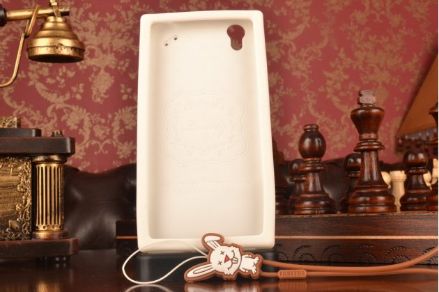 """Необычная уникальная полимерная мягкая задняя панель-чехол-накладка для lenovo p70 """"тематика андроид в белом шоколаде"""""""