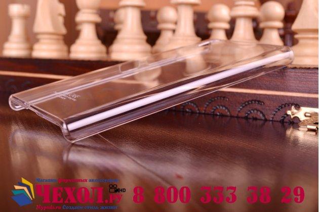 Ультра-тонкая пластиковая задняя панель-чехол-накладка для lenovo p70 прозрачная