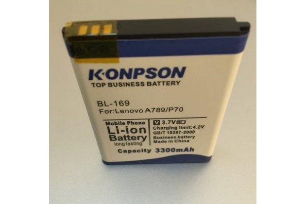 Усиленная батарея-аккумулятор bl234 большой ёмкости 3300mah для телефона lenovo p70-t + гарантия