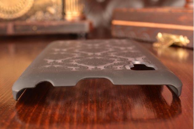 Роскошная задняя панель-чехол-накладка с расписным узором для lenovo p780 прозрачная черная
