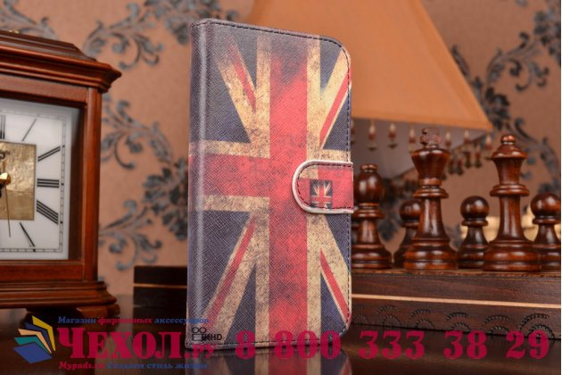 """Уникальный необычный чехол-книжка для lenovo p780 """"тематика британский флаг"""""""