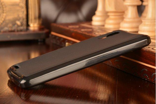 Ультра-тонкая полимерная из мягкого качественного силикона задняя панель-чехол-накладка для lenovo p780 черная