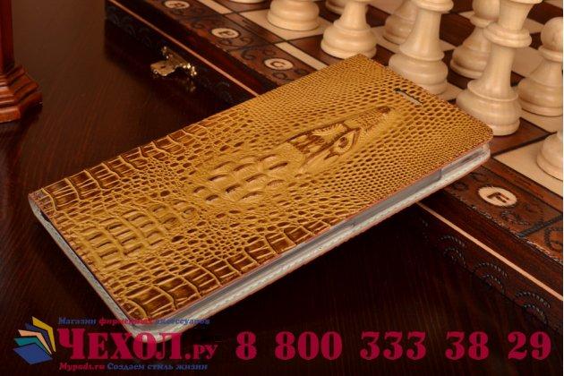 """Роскошный эксклюзивный чехол с объёмным 3d изображением кожи крокодила коричневый для lenovo phab plus pb1-770n/770m 6.8"""" za070019ru  . только в нашем магазине. количество ограничено"""