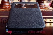 Чехол-книжка для lenovo s650 черный кожаный с окошком для входящих вызовов