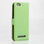 """Чехол-книжка из качественной импортной кожи с мульти-подставкой застёжкой и визитницей для lenovo vibe c (a2020 / a2020a40 dual sim ) 5.0"""" зеленый"""