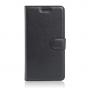 """Чехол-книжка из качественной импортной кожи с мульти-подставкой застёжкой и визитницей для lenovo vibe c (a2020 / a2020a40 dual sim ) 5.0"""" черный"""