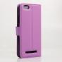 """Чехол-книжка из качественной импортной кожи с мульти-подставкой застёжкой и визитницей для lenovo vibe c (a2020 / a2020a40 dual sim ) 5.0"""" фиолетовый"""