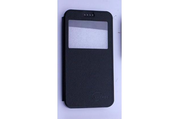 """Чехол-книжка для lenovo vibe c (a2020 / a2020a40 dual sim /a3910 ) 5.0"""" черный с окошком для входящих вызовов водоотталкивающий"""