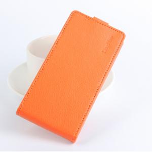 """Вертикальный откидной чехол-флип для lenovo vibe c (a2020 / a2020a40 dual sim /a3910 ) 5.0"""" оранжевый"""