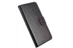 """Фирменный чехол-книжка для Lenovo Vibe C2 5.0"""" с визитницей и мультиподставкой черный кожаный"""
