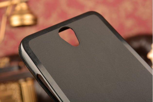 Ультра-тонкая полимерная из мягкого качественного силикона задняя панель-чехол-накладка для lenovo vibe s1/s1 lite черая