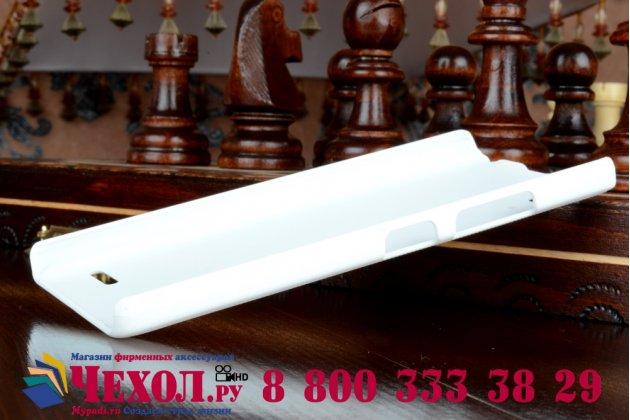 Задняя панель-крышка-накладка из тончайшего и прочного пластика для lenovo a6000/ a6010 plus белая