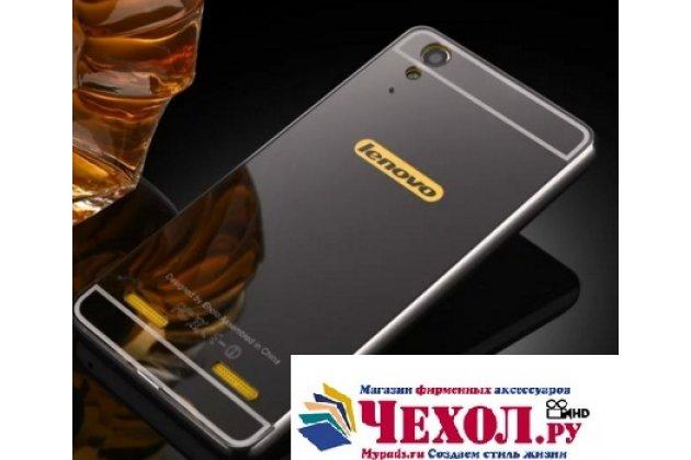 """Металлическая задняя панель-крышка-накладка из тончайшего облегченного авиационного алюминия для lenovo k3 music lemon / a6000/ a6010 plus 5.0"""" черная"""