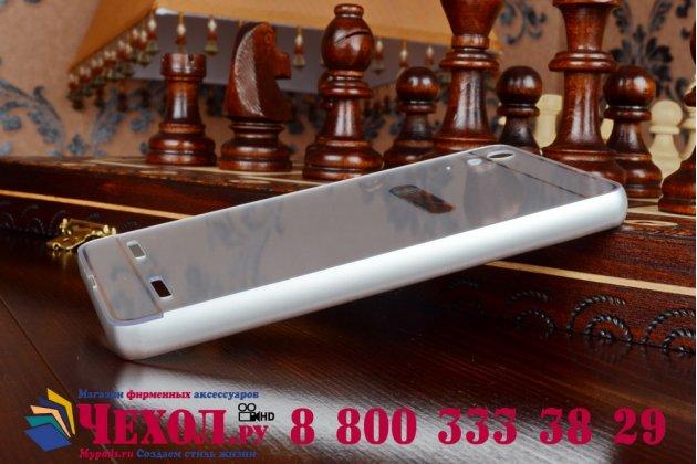 Металлическая задняя панель-крышка-накладка из тончайшего облегченного авиационного алюминия для lenovo a6000/ a6010 plus серебристая