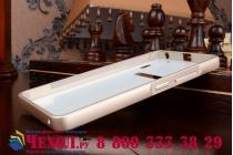 Металлическая задняя панель-крышка-накладка из тончайшего облегченного авиационного алюминия для lenovo a6000/ a6010 plus золотая
