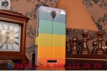 """Уникальный необычный чехол-книжка для lenovo a5000  """"тематика все цвета радуги"""""""