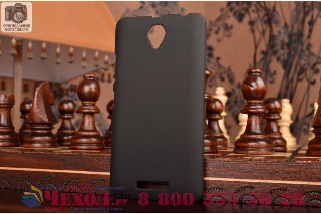 Задняя панель-крышка-накладка из тончайшего и прочного пластика для lenovo a5000 черная