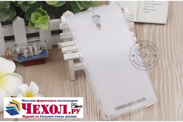 Ультра-тонкая полимерная из мягкого качественного силикона задняя панель-чехол-накладка для lenovo k80/p90/p90 pro белая