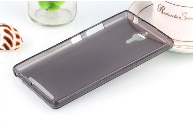 Ультра-тонкая полимерная из мягкого качественного силикона задняя панель-чехол-накладка для lenovo k80/p90/p90 pro черная