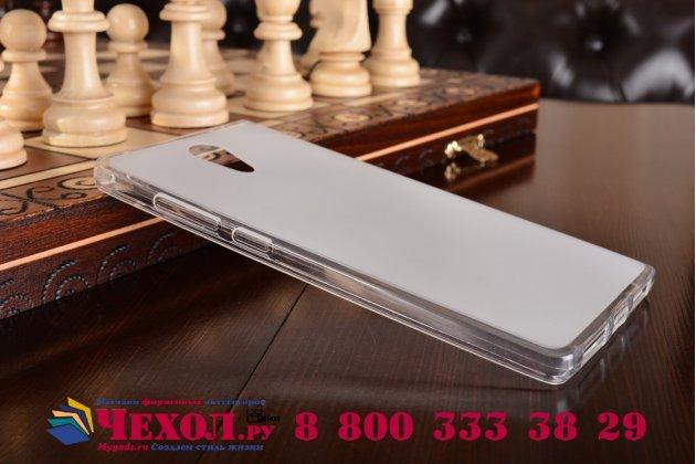 """Ультра-тонкая силиконовая задняя панель-чехол-накладка для lenovo phab 2 pb2-650m 6.4"""" белая"""